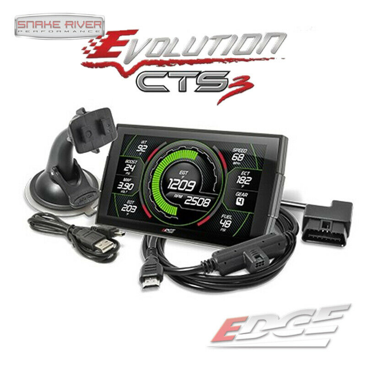 EDGE EVOLUTION CTS 3 TUNER FOR 2003-2014 DODGE RAM JEEP CHRYSLER GAS VEHICLES