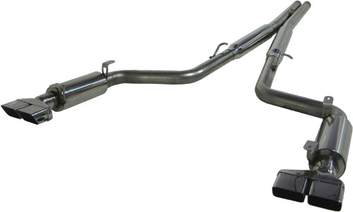 "S7102409 - MBRP 3"" DUAL EXHAUST 2008-2014 DODGE CHALLENGER SRT8 6.1L 6.4L CAT BACK REAR EXIT"