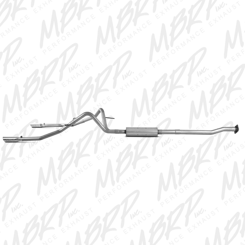 S5214AL - MBRP DUAL SPLIT REAR EXHAUST 09-11 F150 F-150 4.6L 5.4L