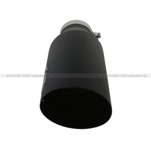 "49-92023-B - AFE 18"" STAINLESS STEEL EXHAUST TIP 4"" INLET 7"" BLACK"