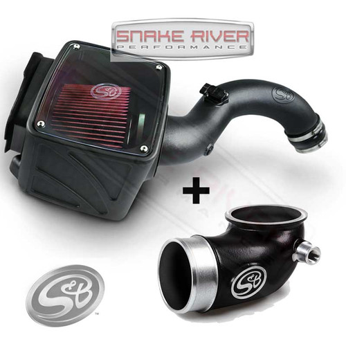 S&B FILTERS TURBO INLET TUBE & COLD AIR INTAKE 04.5-05 CHEVY DURAMAX DIESEL LLY - 76-1006B  75-5102