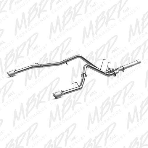 "S6171409 - MBRP 3.5"" EXHAUST 14-15 DODGE RAM 1500 3.0L ECODIESEL FILTER BACK DUAL REAR"