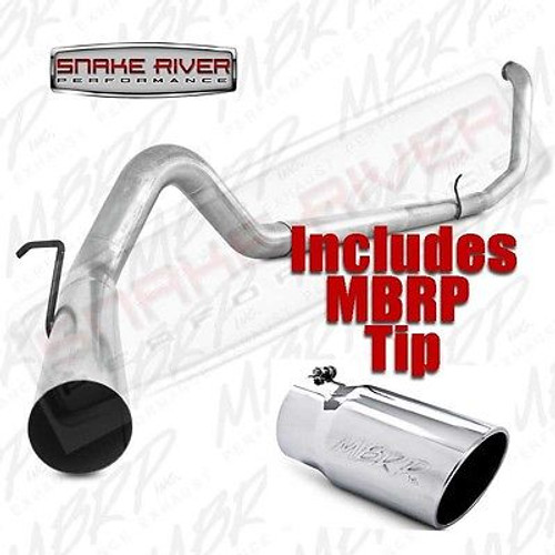 "S6200PLM T5051 - MBRP 4"" EXHAUST 99-03 FORD POWERSTROKE DIESEL 7.3L STRAIGHT PIPE w STAINLESS TIP"