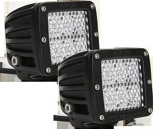 20251 - RIGID INDUSTRIES DUALLY D-SERIES HYBRID DIFFUSED WHITE LED LIGHT SET OF TWO
