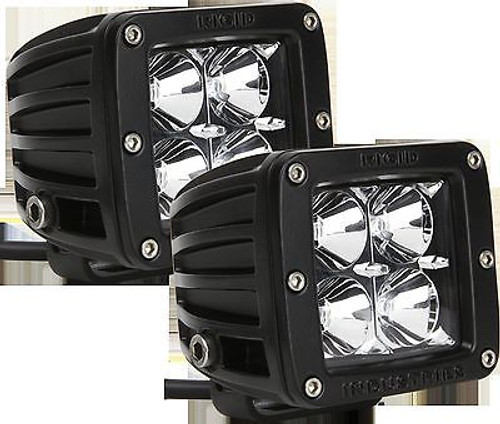 20211 - RIGID INDUSTRIES DUALLY D-SERIES HYBRID FLOOD WHITE LED SET OF TWO