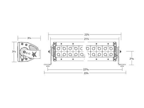 RIGID INDUSTRIES E-SERIES HYBRID SPORT FLOOD COMBO 20 INCH LED LIGHTBAR - 120312