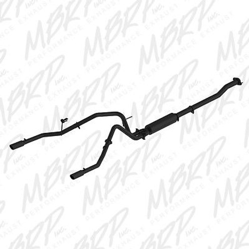 "S5240BLK - MBRP 2.5"" EXHAUST 2011-2014 FORD F150 3.5L V6 ECOBOOST DUAL ALUMINIZED BLACK"