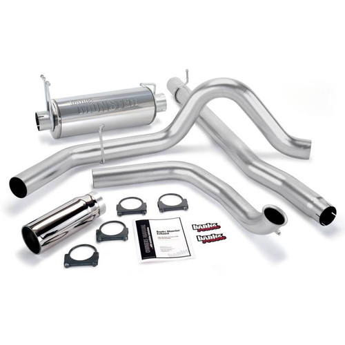 "48653 - BANKS TURBO BACK 4"" MONSTER EXHAUST 00-03 FORD EXCURSION 7.3L POWERSTROKE DIESEL"