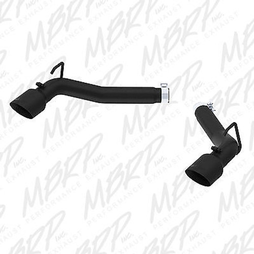 "S7021BLK - MBRP 3"" AXLE BACK BLACK DUAL MUFFLER DELETE EXHAUST FOR 10-15 CHEVY CAMARO 3.6L"