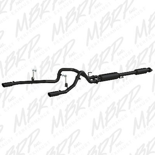 "S5258BLK - MBRP 2.5"" CAT BACK BLACK DUAL EXHAUST FOR 2015 FORD F150 5.0L"