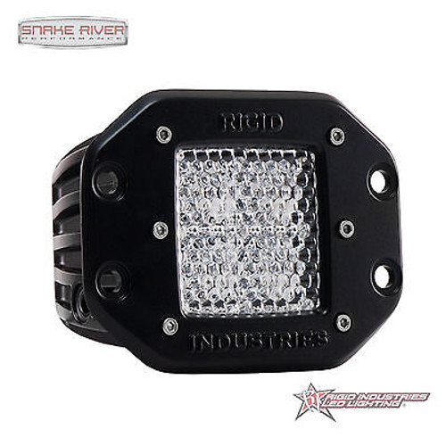 21151 - RIGID INDUSTRIES D-SERIES DUALLY HYBRID DIFFUSED LED LIGHT SINGLE BLACK