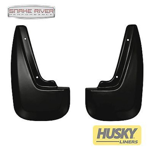 57861 - HUSKY LINERS REAR MUD FLAPS GUARDS BLACK FOR 2011-2015 CHEVROLET EQUINOX
