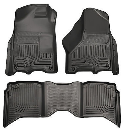 99741 - HUSKY FRONT AND REAR FLOOR LINERS WEATHERBEATER 2013-15 FORD ESCAPE BLACK