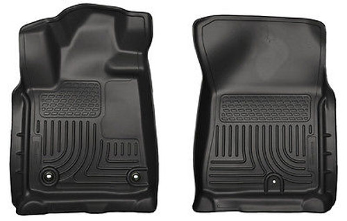 18581 - HUSKY FRONT FLOOR LINERS WEATHERBEATER 2010-2011 TOYOTA TUNDRA BLACK