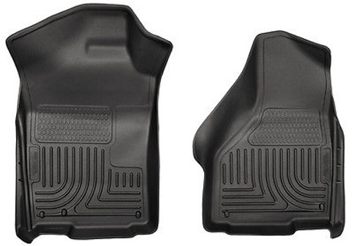 18381 - HUSKY FLOOR LINERS WEATHERBEATER FRONT 2008-2010 FORD F250 F350 SUPER DUTY BLACK