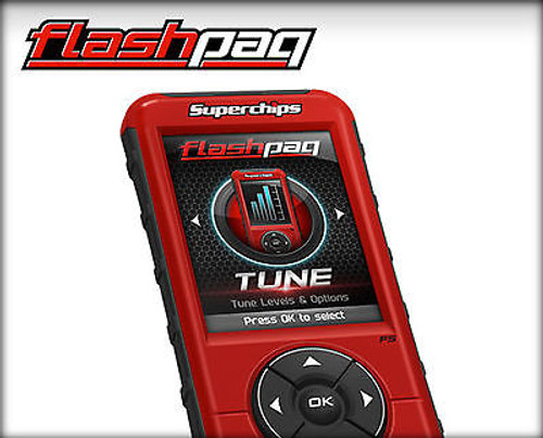SUPERCHIPS FLASHPAQ F5 TUNER FOR 99-16 FORD POWERSTROKE DIESEL - 1845