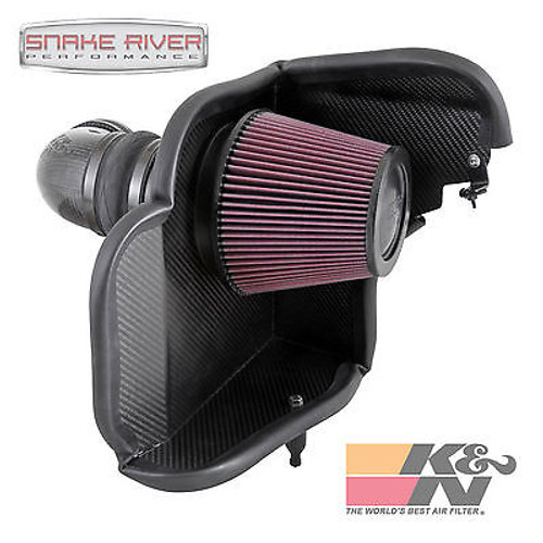 57-3079 - K&N PERFORMANCE CARBON FIBER COLD AIR INTAKE SYSTEM FOR 2014 CHEVY CAMARO ZL1