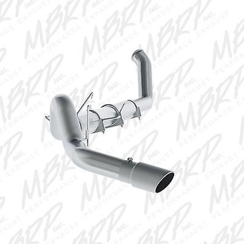 "S61120409 - MBRP 5"" TURBO BACK STAINLESS EXHAUST WITH TIP FOR 94-02 DODGE RAM CUMMINS DIESEL"