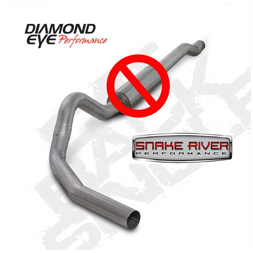 "K4338A-RP - DIAMOND EYE 4"" EXHAUST 03-07 FORD POWERSTROKE DIESEL 6.0L NO MUFFLER CAT BACK"