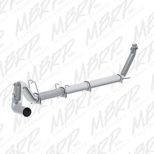 "MBRP 5"" EXHAUST FOR 94-02 DODGE RAM CUMMINS DIESEL 5.9 STRAIGHT PIPE W BLACK TIP - S61120PLM T5125BLK"