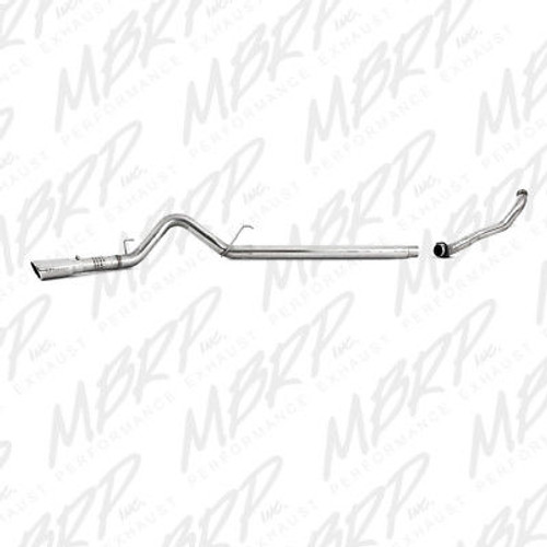 "MBRP 4"" FILTER BACK EXHAUST W DOWNPIPE 08-10 FORD POWERSTROKE DIESEL 6.4L AL - S6282AL"