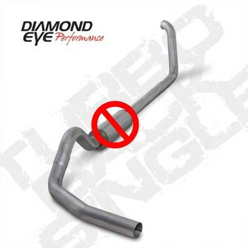 "K4318S-RP - DIAMOND EYE 4"" STAINLESS STEEL EXHAUST 99-03 FORD POWERSTROKE DIESEL NO MUFFLER"