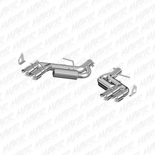 MBRP EXHAUST 2016-2019 CHEVY CAMARO 6.2L AXLE BACK  6 SPEED QUAD TIPS ALUMINZED