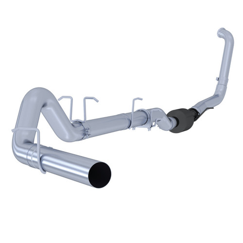 "S6212SLM T5051 - MBRP 4"" STAINLESS STEEL EXHAUST 03-07 FORD DIESEL 6.0L NO MUFFLER WITH TIP"