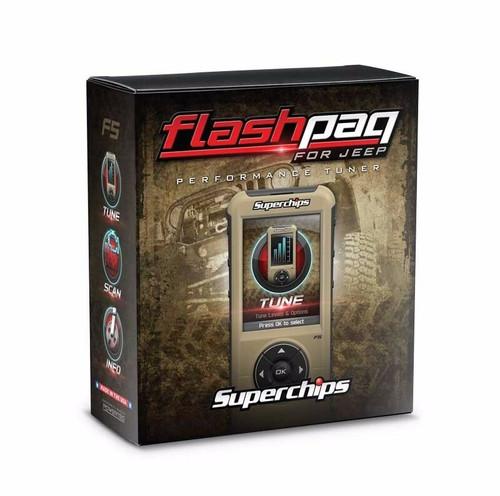 SUPERCHIPS FLASHPAQ F5 TUNER PROGRAMMER 2018-2019 JEEP WRANGLER JL 3.6L 3876-JL