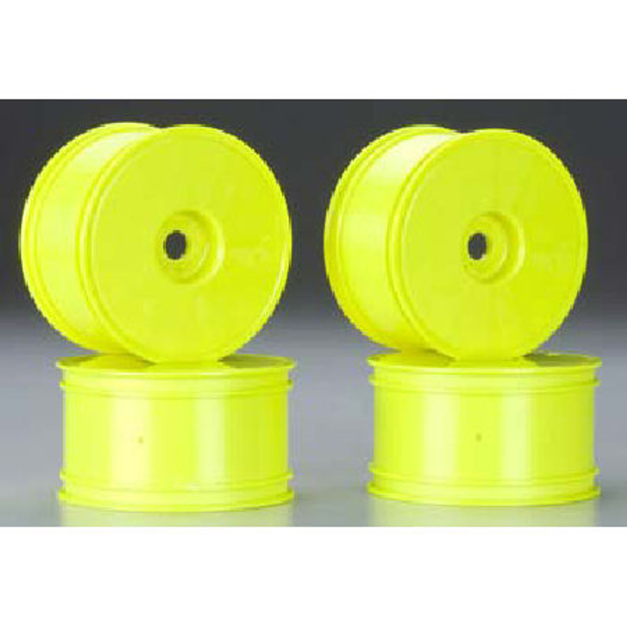 "4 Yellow JCO3369Y JConcepts Bullet 4.0/"" Standard Offset 1//8 Truck Wheels"