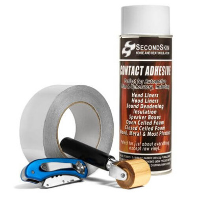 Rubber Car Sound Proofing Deadener Foam Insulator Cotton Double Sided Adhesive