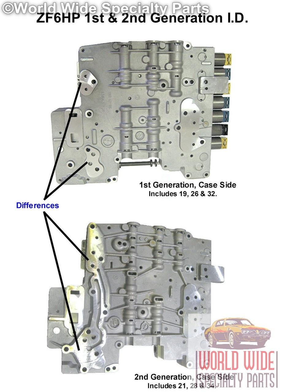ZF 6HP26 Valve Body Rebuild and Return Service 2001-2007