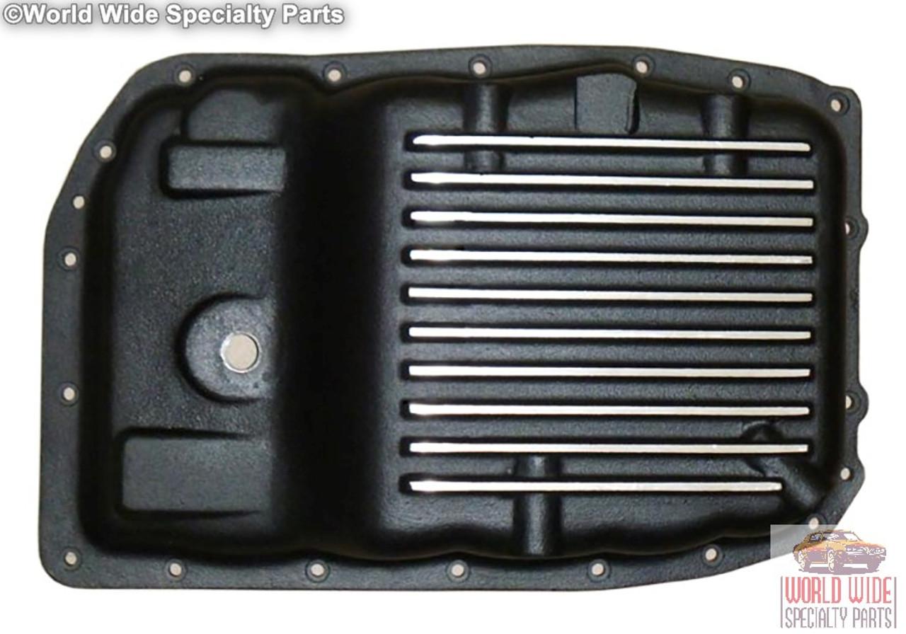 GM 6L80, 6L80E, Heavy Duty Stock Capacity Transmission Pan, Black Powder Coat