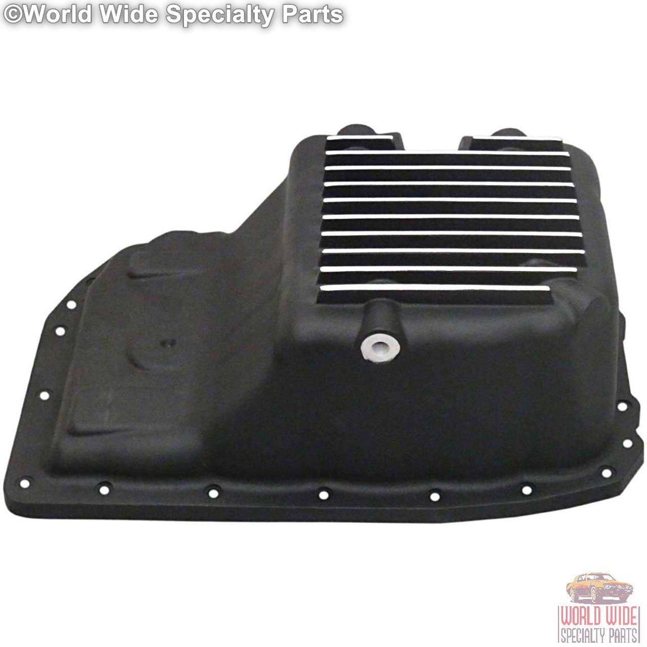 GM 6L80 Deep Transmission Pan, 2 Qts Extra Capacity, 2007-UP, Black Powder Coat