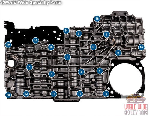Ford 5R55S, 5R55W Valve Body 2009-UP