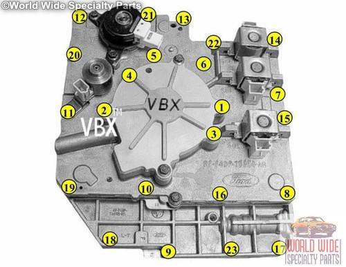 Ford AX4N Valve Body 1998-2003, RF F8 or RF XF1 Casting#