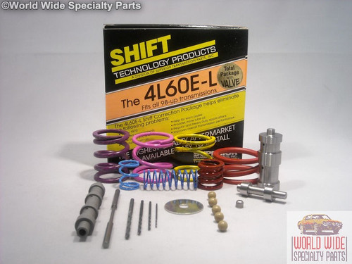 GM 4L60E-L-V Transmission Shift Correction Kit 1998-UP w/HD Boost Valve, Sleeve
