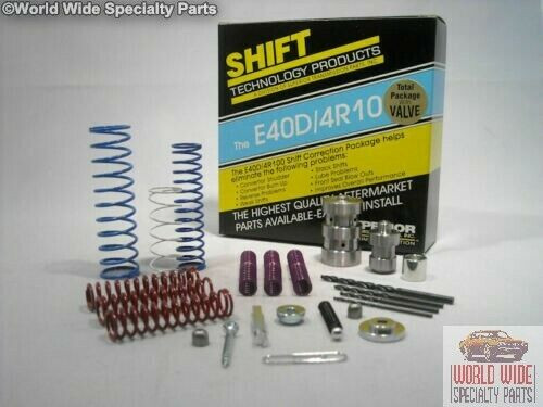 E40D, E4OD, 4R100 Transmission Shift Correction Kit with Boost Valve, KE4OD-V