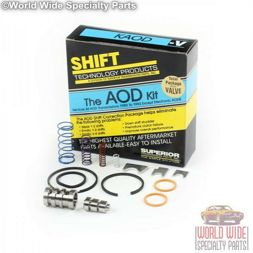 Superior AOD Transmission Shift Correction Kit with Boost Valve 1980-UP, KAOD-V