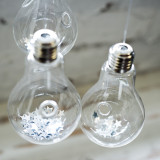 Glass Hanging LightBulb Vase
