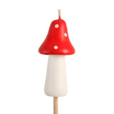 Mushroom Torch Candles, Red