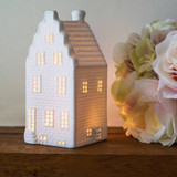 Tiered roof canal house tea light