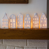 Curved Roof canal house tea light