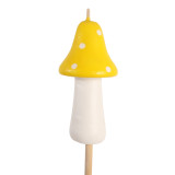 Mushroom Torch Candles, Yellow