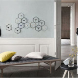 Geometric 3D Wall Candle Holder Gold