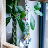 Swarovski beaded suncatcher, Butterfly garden