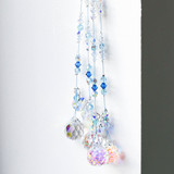 Blues and Whites Swarovski Elements crystal hanger with heart