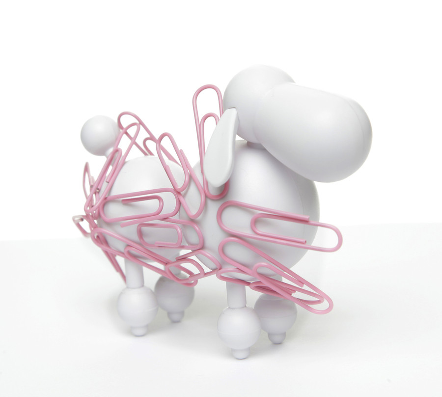 Poodle PaperClip Holder