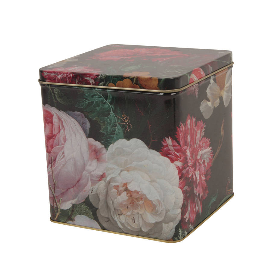 Dark Botanical Metal Tin
