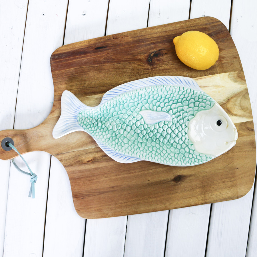 Tropical Fish Serving Dish Green
